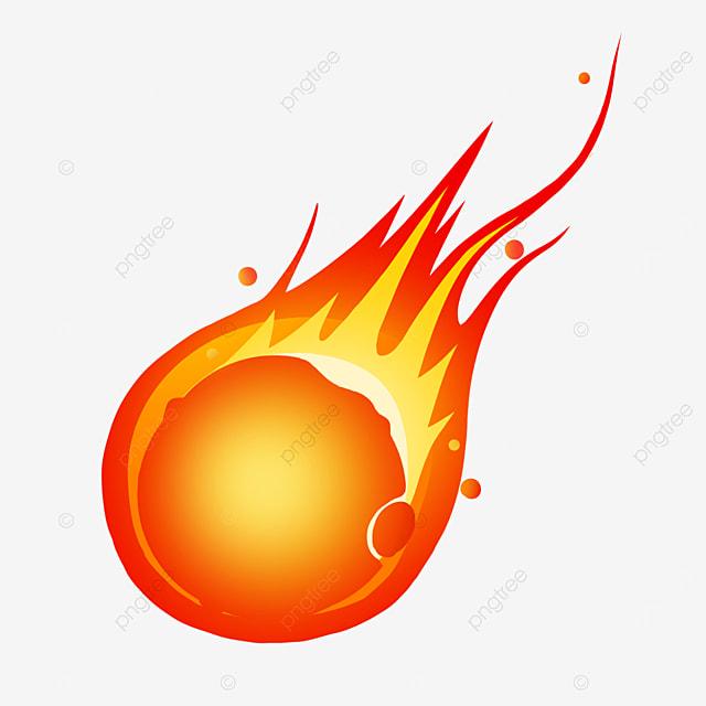 burning meteor clip art