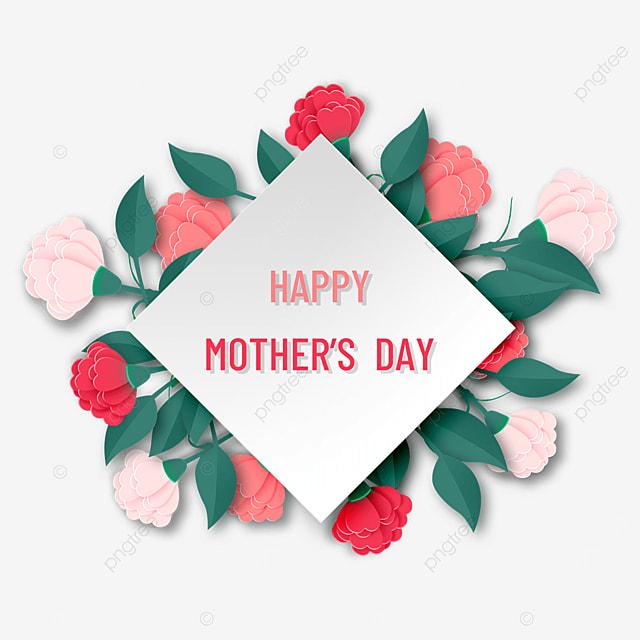 carnation mothers day floral border
