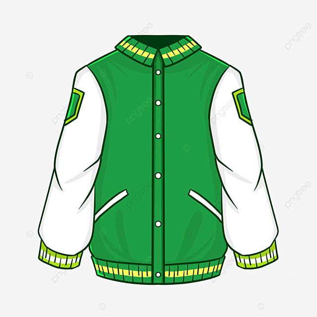 cartoon style green jacket clipart