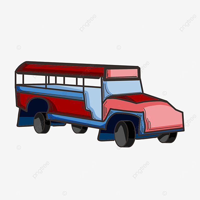 cute car jeepney clipart