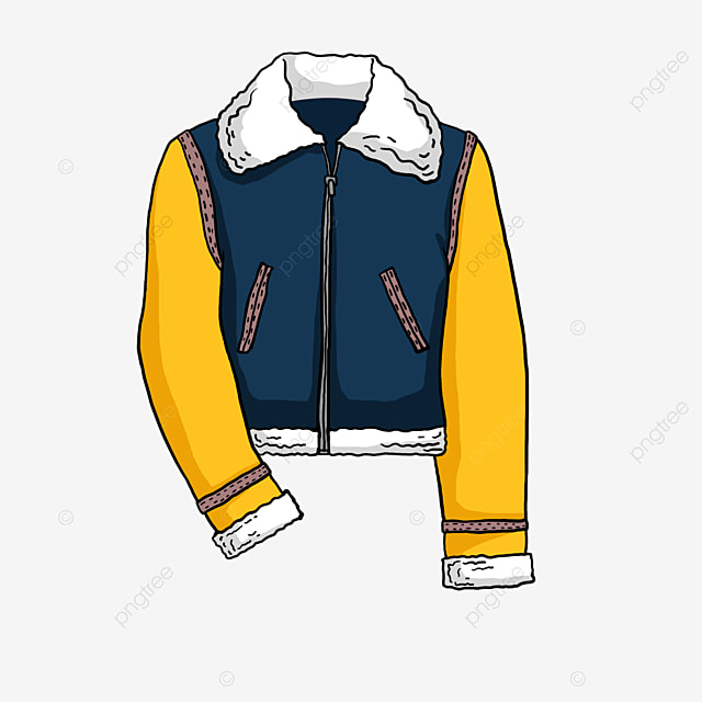 fur collar jacket clip art