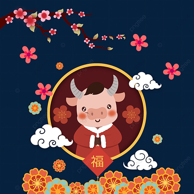 happy chinese new year in the year of the ox