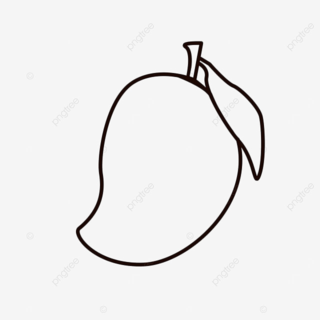 honey sweet and juicy fruit mango clipart black and white