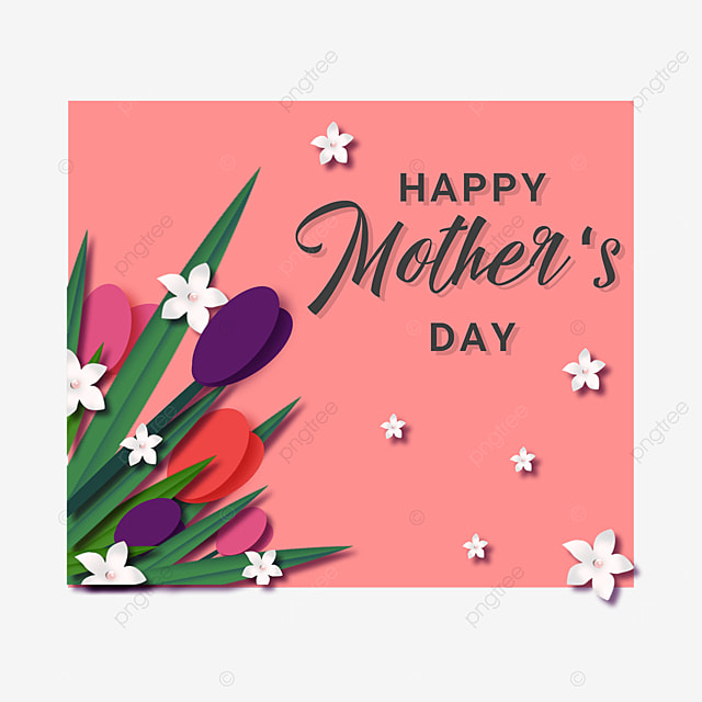 mothers day floral pink border