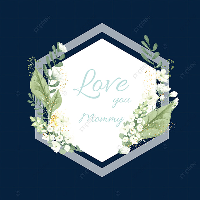 mothers day green floral border