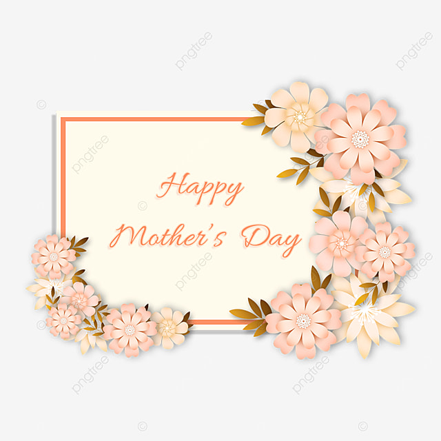 mothers day pink floral border