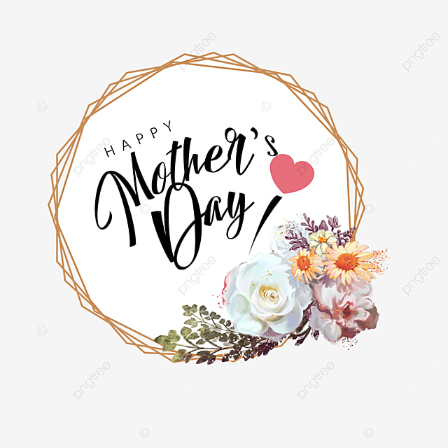 mothers day polygonal floral border