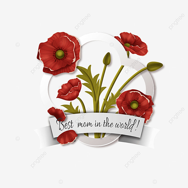 mothers day red floral border