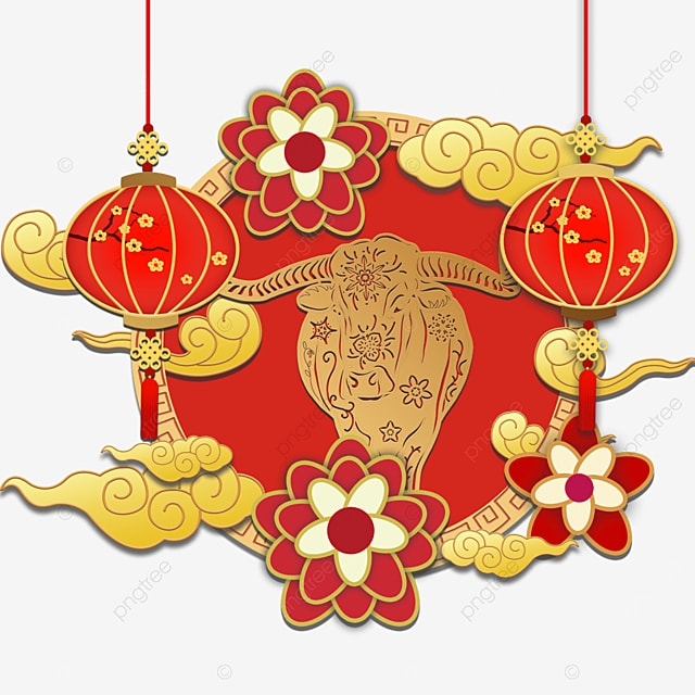 new year chinese new year auspicious clouds year of the ox