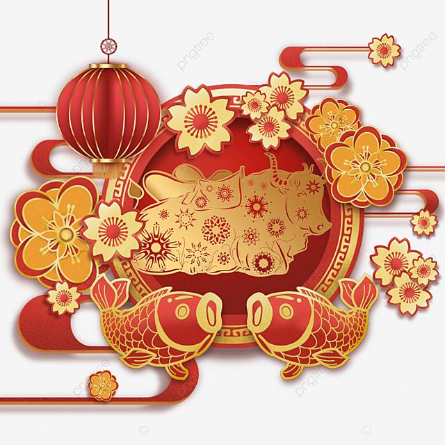 new year chinese new year carp red
