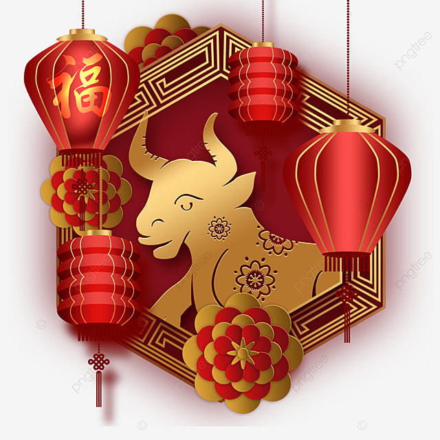 new year chinese new year red year of the ox