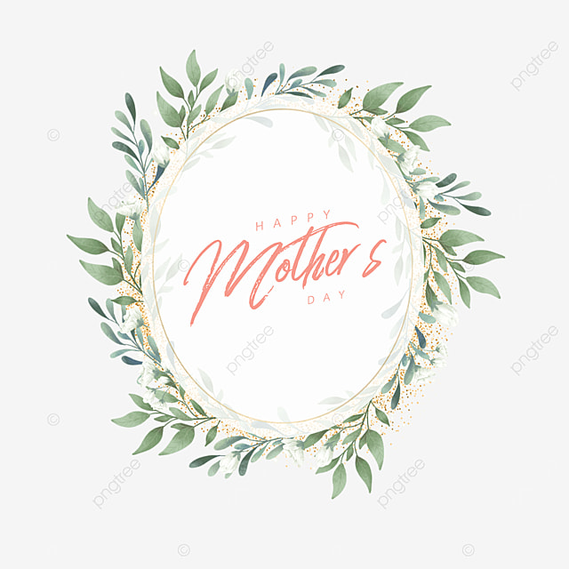 oval mothers day floral border