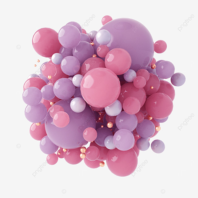 pink floating ball