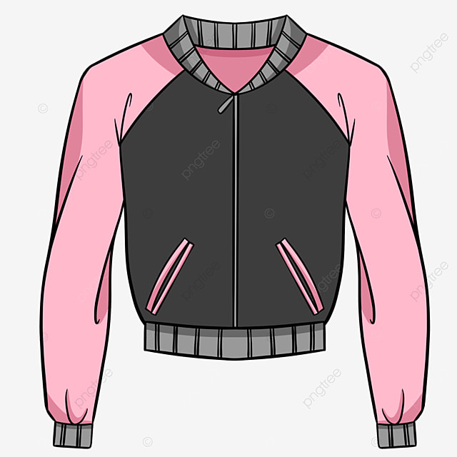 pink ladies line jacket clipart