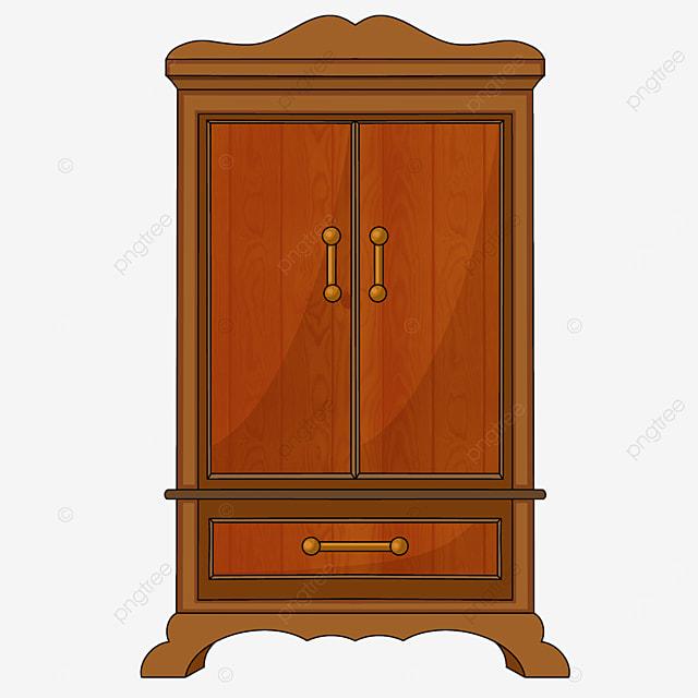 red cartoon cabinet cupboard clipart