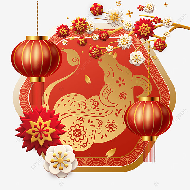 red new year spring festival auspicious