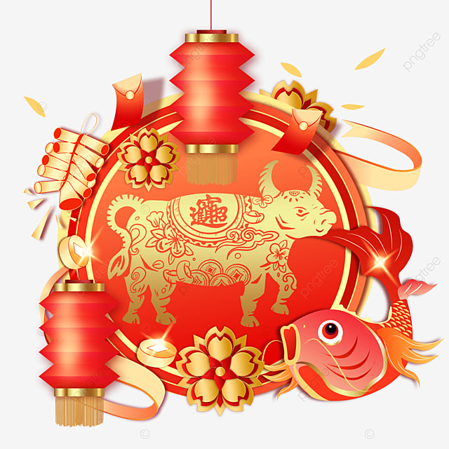 red new year spring festival carp