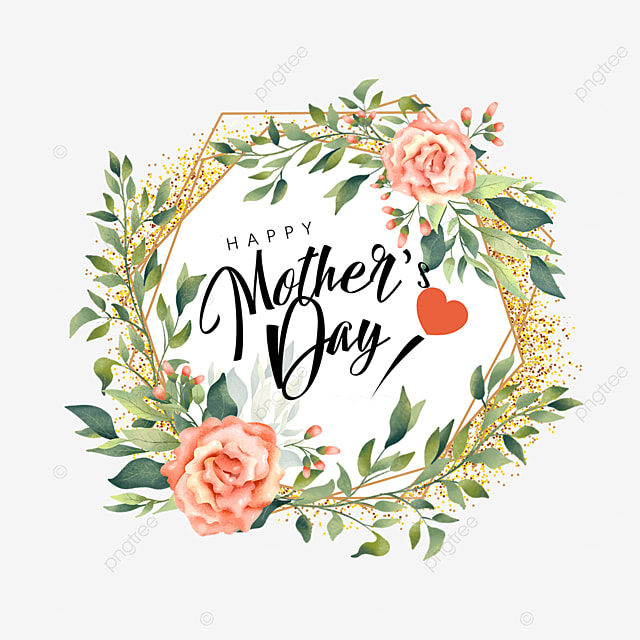 round mothers day floral border