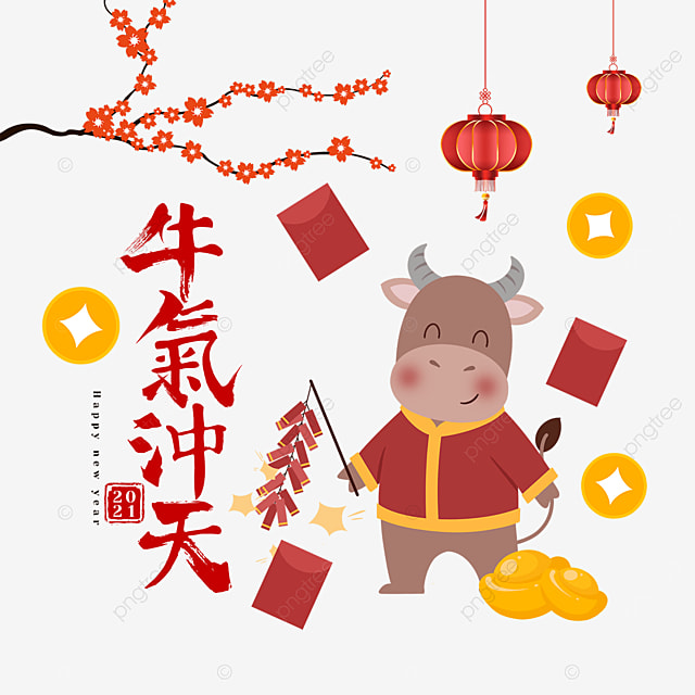 set off firecrackers during the spring festival of the ox
