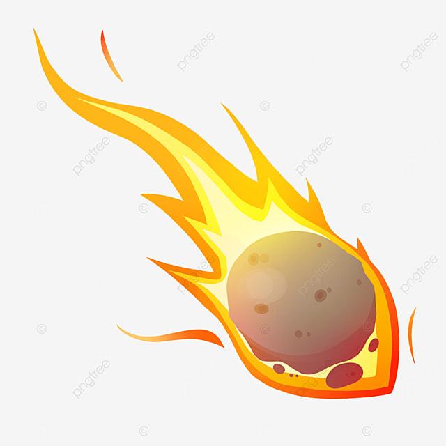 shining meteor clip art