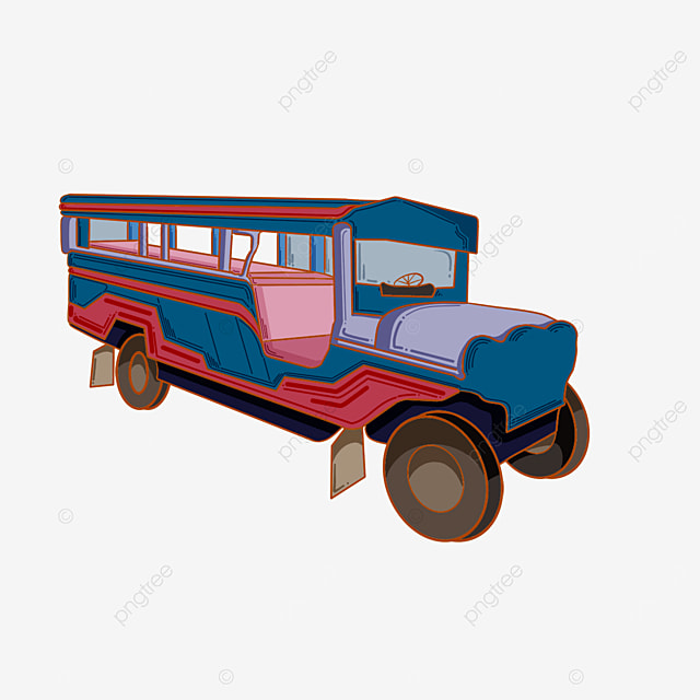 strange car jeepney clipart