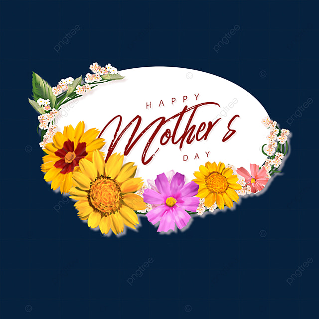 yellow floral mothers day border