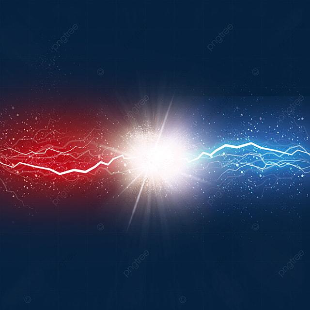 beam collision colorful lightning light effect