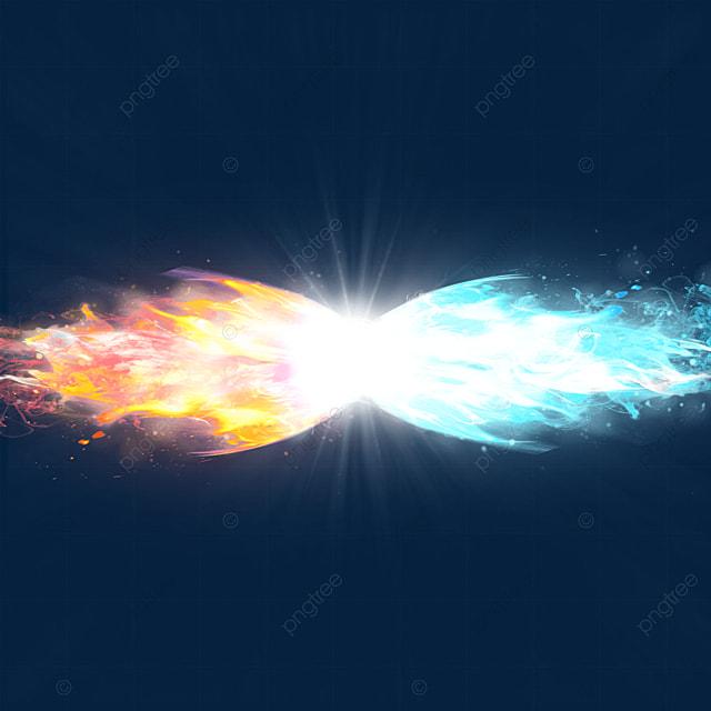 beam collision light effect spark