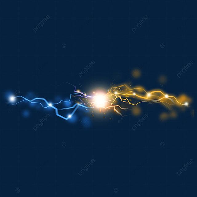 beam collision lightning spark light effect