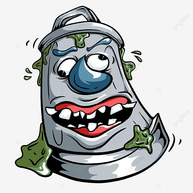 big mouth trash bin clipart