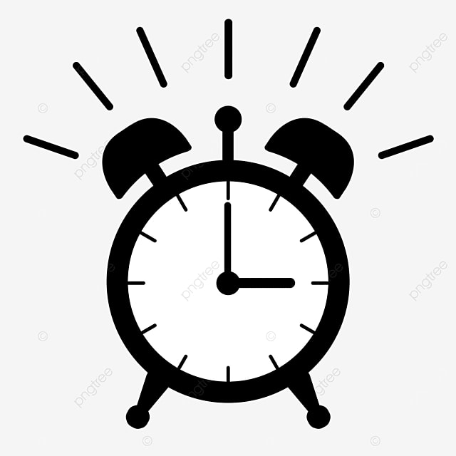 black alarm clock siren clipart