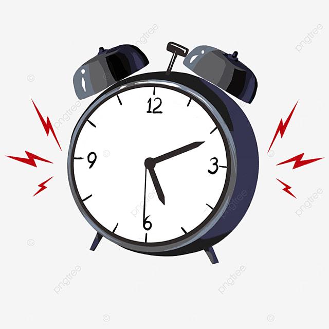 black gray alarm clock red alarm clipart
