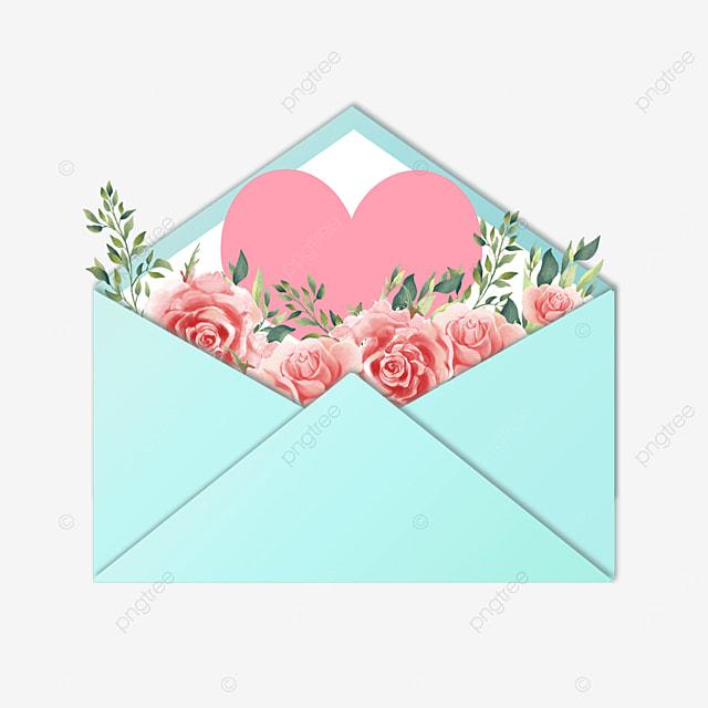 blue envelope mothers day floral gift