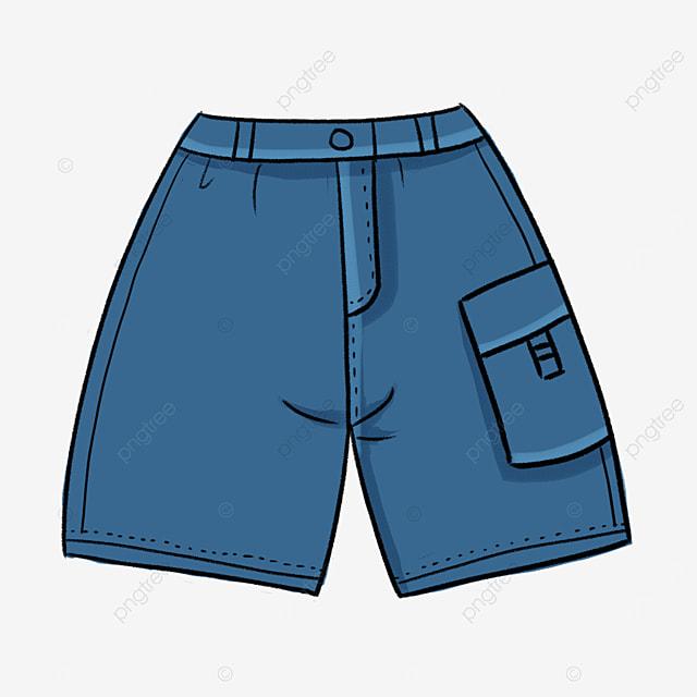 blue men shorts clipart