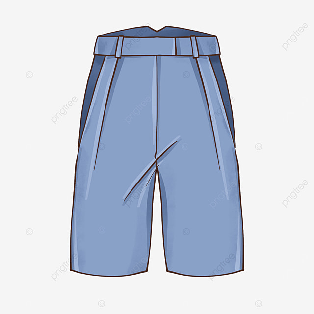 blue shorts clip art