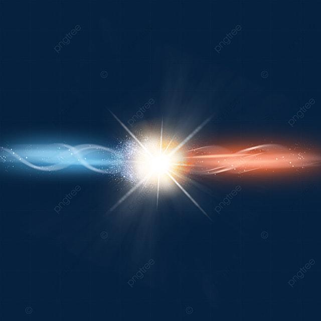 brilliant light effect of beam collision