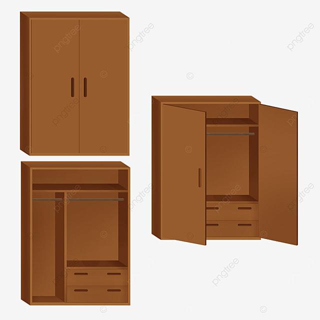 brown double door cupboard clip art