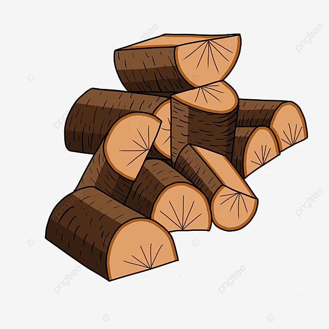 brown firewood wood clipart
