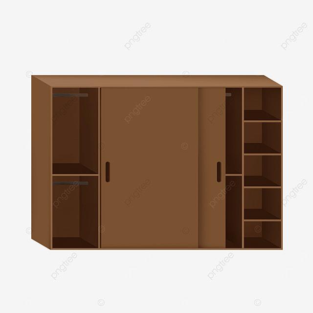 brown multi open sliding door cupboard clip art