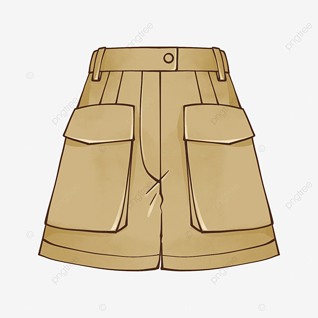 brown shorts clipart