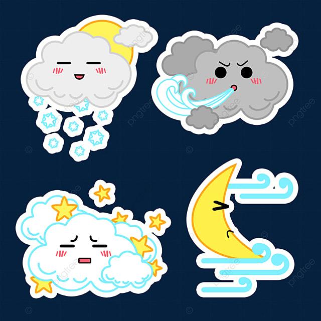 cartoon breeze cute weather sticker