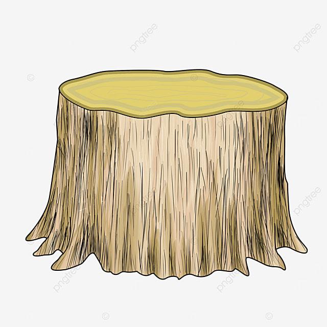 cartoon stump wood clipart