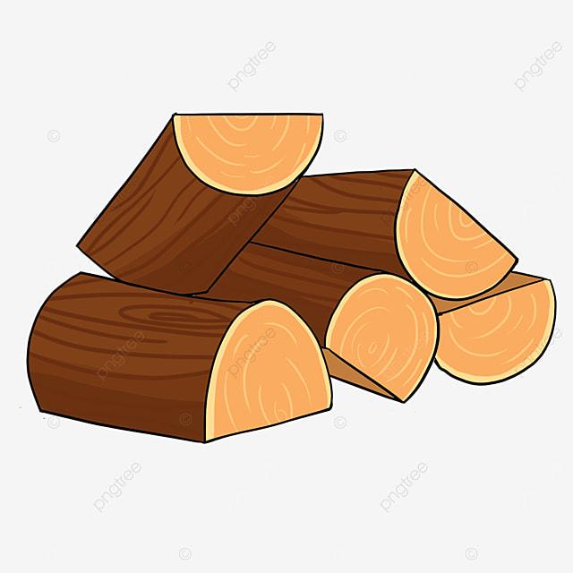 cartoon wooden block wood clipart