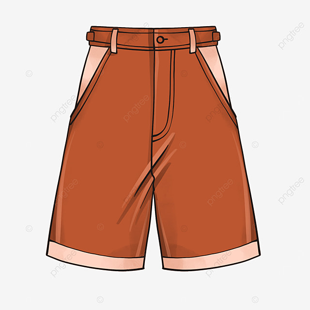 casual shorts clipart