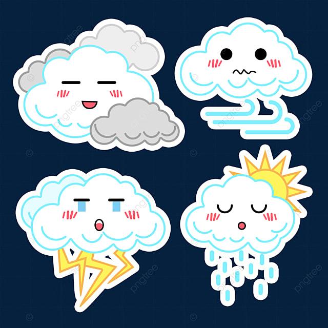 cloud cute weather stickers