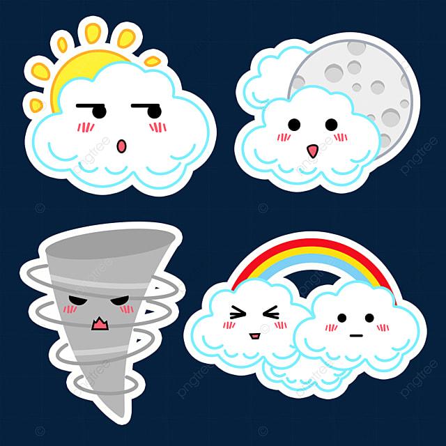 cloudy cute weather sticker