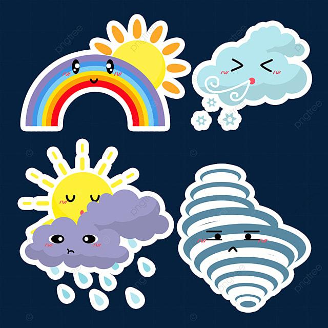 cute tornado weather sticker