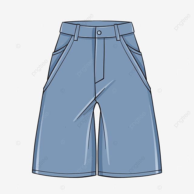 denim shorts clip art