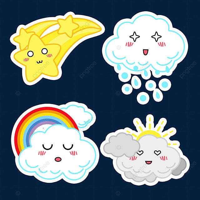 exquisite cartoon cute weather stickers