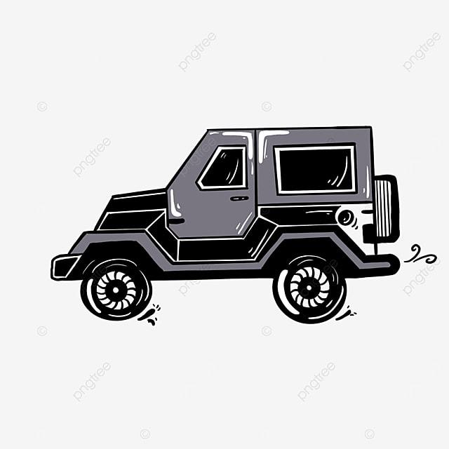 gray white black jeep clip art